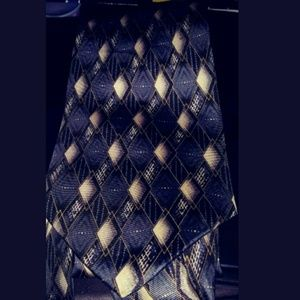 Arrow Mens tie-blue cream black abstract new